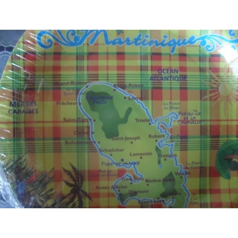 Assiettes madras carte Martinique 136g