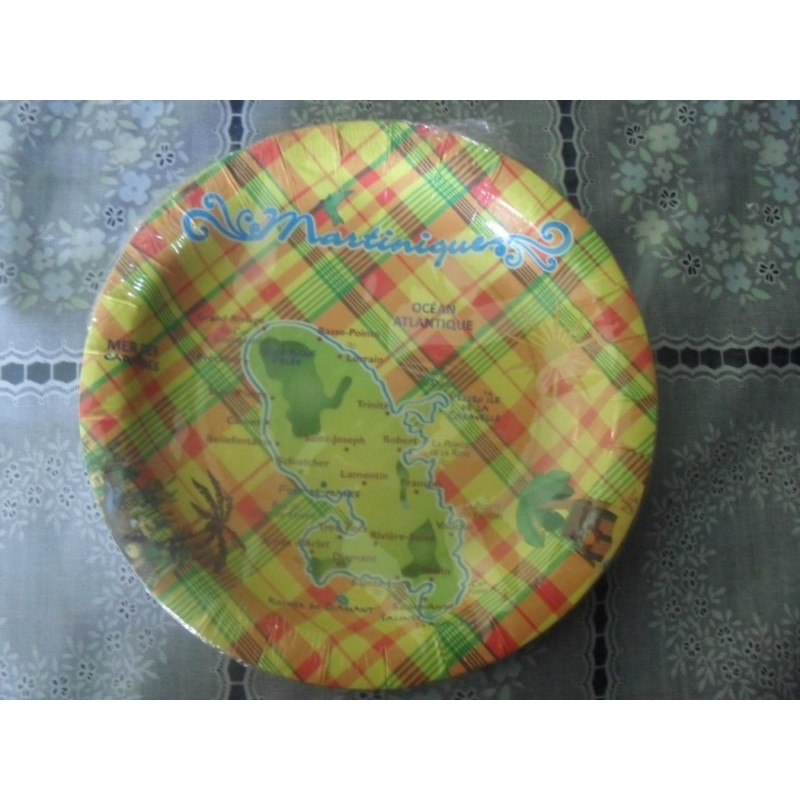 Assiettes dessert madras carte Martinique 84g