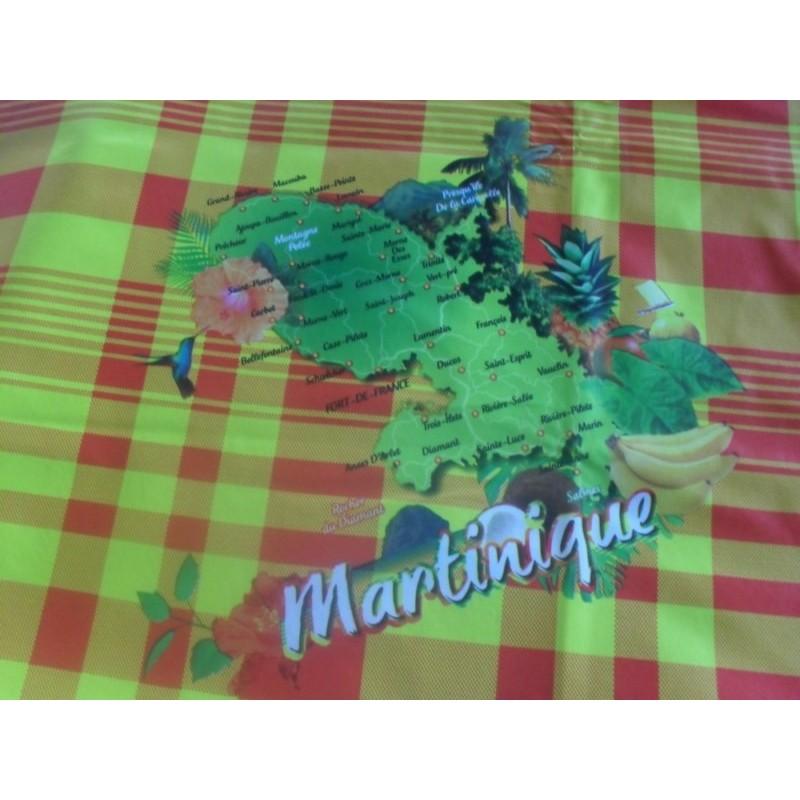 Nappe cirée grand carreaux Martinique 730g
