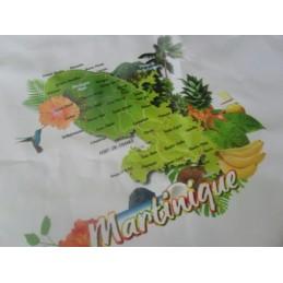 Nappe cirée fonds uni Martinique 735g
