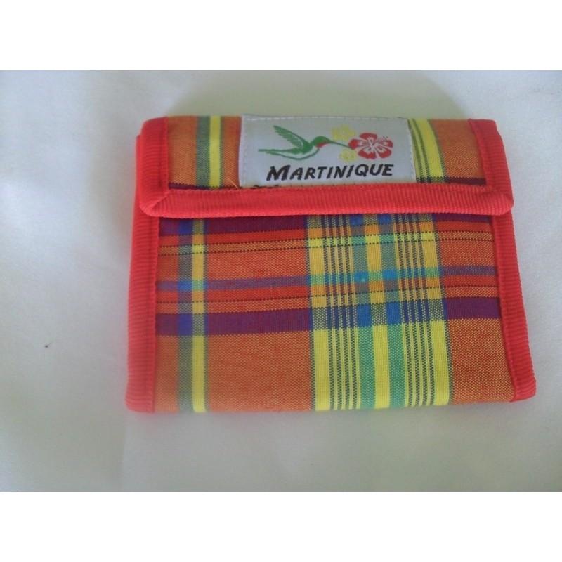 Porte monnaie carte madras