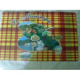 Lot de 4 sets carreaux Madras