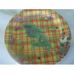 Assiettes dessert madras carte Martinique 84g