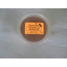 Cannelle & muscade en poudre en pot