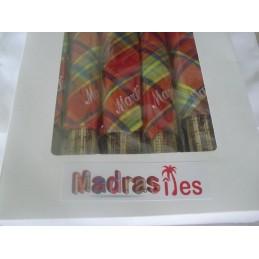 Coffret service bambou madras 17 pces