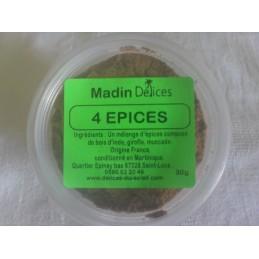 Quatre épices en pot