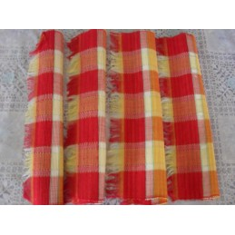 Lot de 4 sets de table madras frange 260g